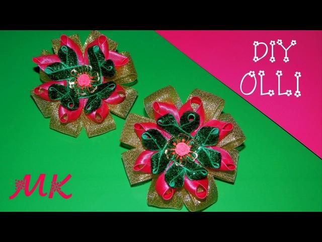 DIY 🎀 Бантики из косой бейки | бархатной ленты | парчи Bows | velvet ribbon | brocade