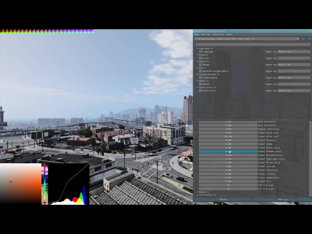 [ReShade 3.0] Lightroom shader with Histogram, Color Picker, HSL controls and LUT generator