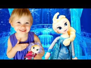 Холодное сердце Эльза и Анна в гостях у Алены Подарки сюрпризы Elza and Anna Frozen Surprises
