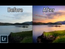How to Create STUNNING Sunset Photos Adobe Lightroom 6 cc Landscape Photography Editing Tutorial