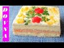 лучший закусочный торт из крекеров и рыбной консервы Нептун