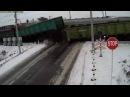 Жуткая авария на ЖД переезде, 2 поезда разорвали грузовик МАЗ
