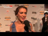 Jo Garcia talks to Alyssa Milano on VGA Red Carpet | 2009