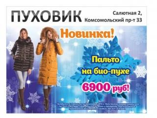Новинка! Зимние пальто на био-пухе 6900 руб!