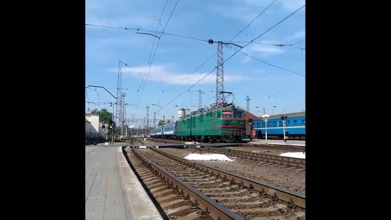 ВЛ82м-034 региональныйпоезд Полтава-Днепропетровск
