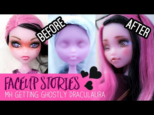 Repainting Dolls - MH Getting Ghostly Draculaura - Faceup Stories ep.44