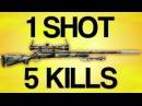 1 SHOT 5 KILLS - Battlefield 3