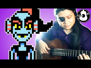 Undertale - Spear of Justice (Flamenco Guitar Cover/Remix) | Undyne Normal Battle