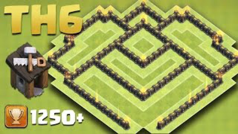 Town Hall 6 Trophy Base (TH6 Pushing Base) | Southern Teaser 2016