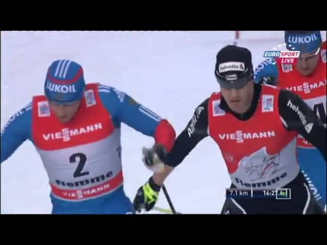 Лыжные гонки Тур де Ски Финал Сезон 20122013 Подъем на Альпе Чермис Гонка преследования свобод