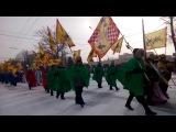 Хресна хода з колядками у Хмельницькому. Від Церкви до Костьола. Повне відео. 07.01.17.