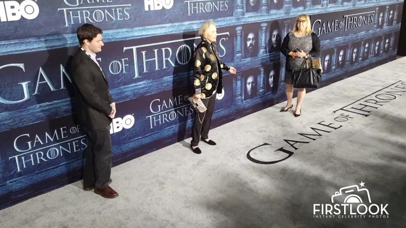 Фэй Данауэй на премьере шестого сезона сериала ИГРА ПРЕСТОЛОВ в Лос - Анджелесе
