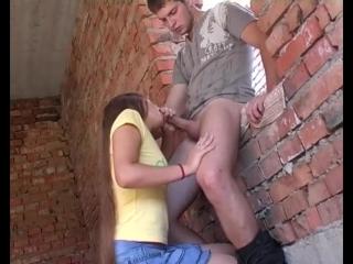 Трахнул девушку на заброшенной стройке