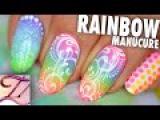 Tuto nail art rainbow manucure de vacances