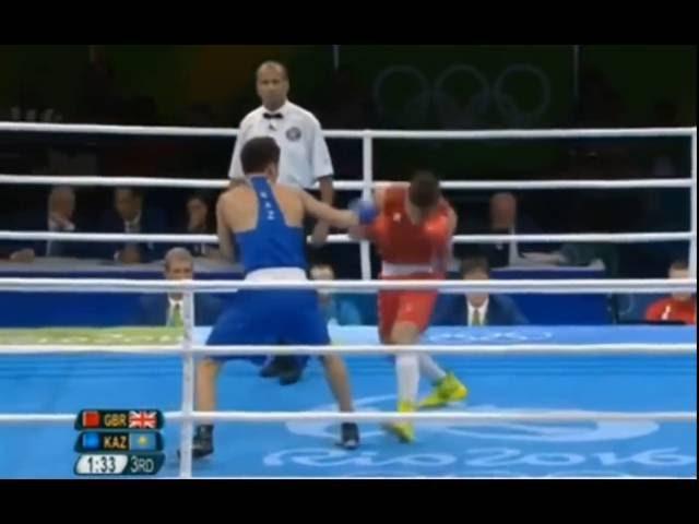 Олимпиские игры 2016 Бокс Данияр Елеусинов KAZ Джош Келли GBR