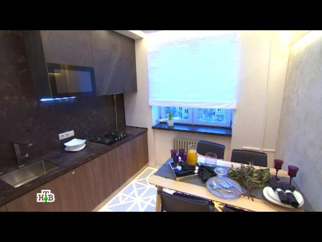 Теплый минимализм и каменные поверхности на кухне со светящимся полом