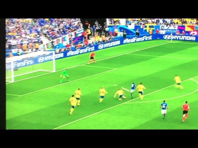 Italia-Svezia 1-0 gol EDER euro 2016