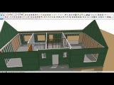 трехмерное проектирование каркасного дома в SketchUp