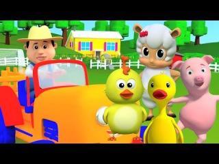 Старый Макдональд имел ферму | детская песня для детей | дети рифмуется с русским текстом