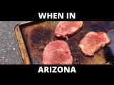 Жаркая погода в Аризоне: готовим стейк на асфальте и выпекаем печеньки в Ламборгини
