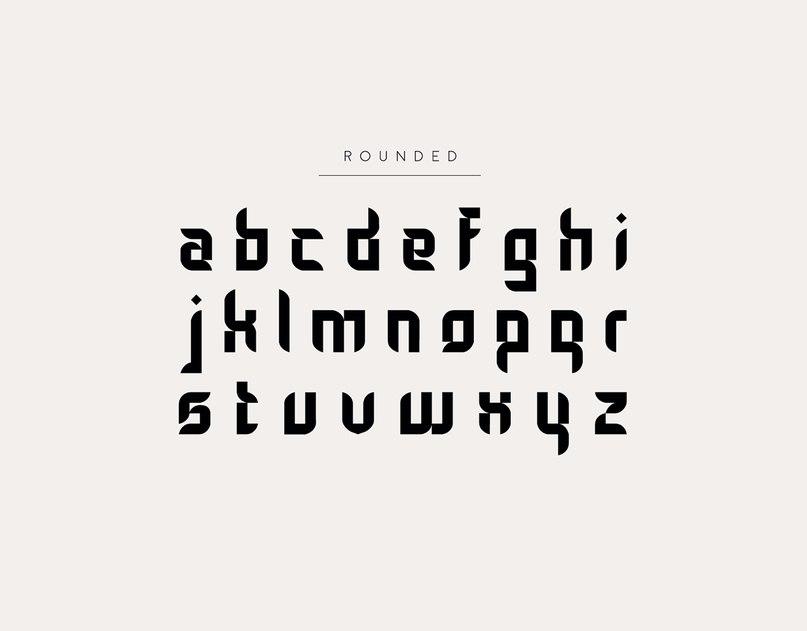 Gothic Tangram шрифт скачать бесплатно