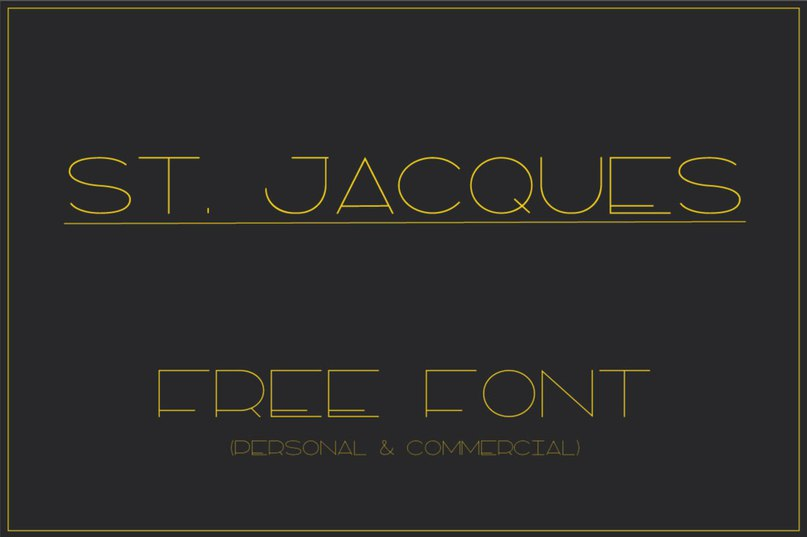 St.Jacques шрифт скачать бесплатно