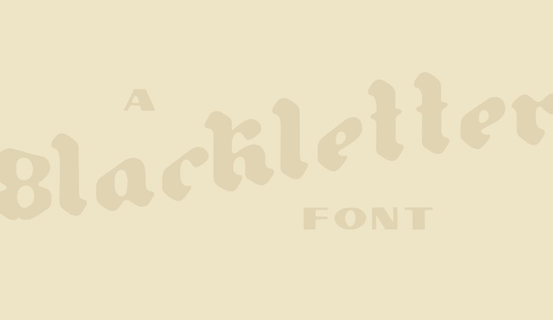 шрифт Gutenberg Blackletter