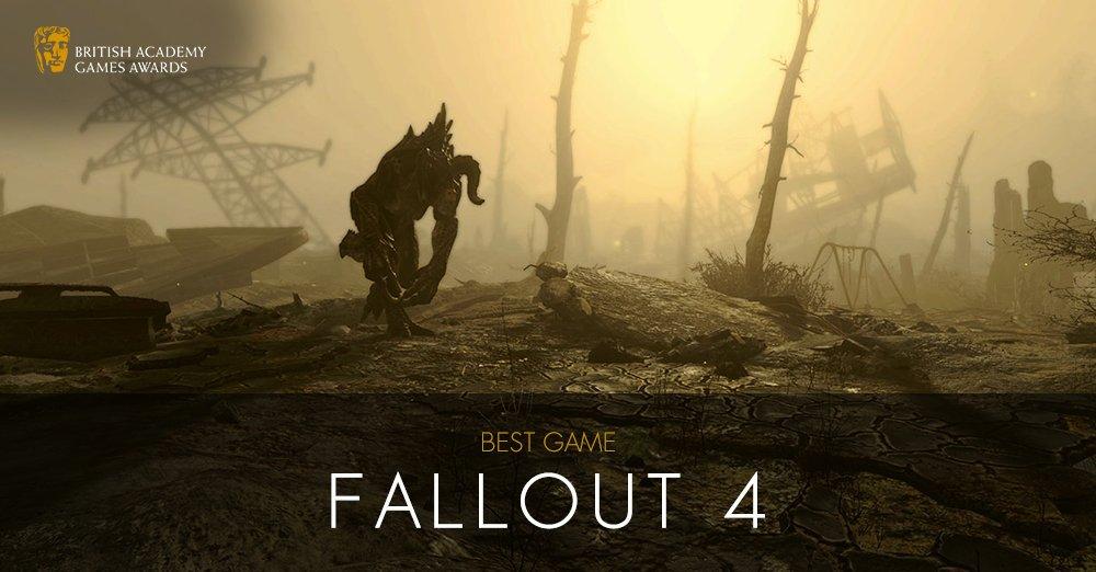 Fallout4 игра года по мнению BAFTA