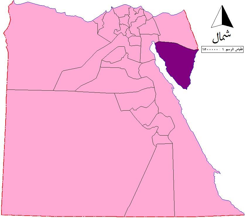 Южный Синай на карте Египта