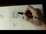 Как быстрей научится рисовать голову _ лицо