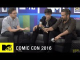 Colin Farrell &amp Ezra Miller Amazed by Fans Wands Up Salute  Comic Con 2016  MTV