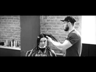 Женская стрижка каре и hair tattoo - красиво ! Women's haircut bob and hair tattoo - beautiful!