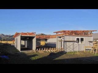 Дом из 4 х контейнеров с внутренним двориком