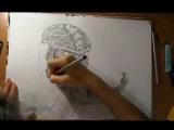 Speed Drawing:Mortal Kombat 9 Scorpion (Мортал Комбат 9 Скорпион) Ускоренный рисунок