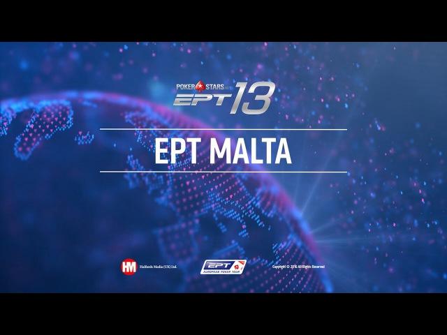 Финальный стол турнира хай-роллеров EPT на Мальте с бай-ином €25 000 (с показом закр ...