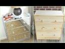 DIY   Mirrored Nightstands (IKEA HACK )