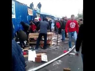 Astrakhanpost.ru: Пожар на рынке Большие Исады