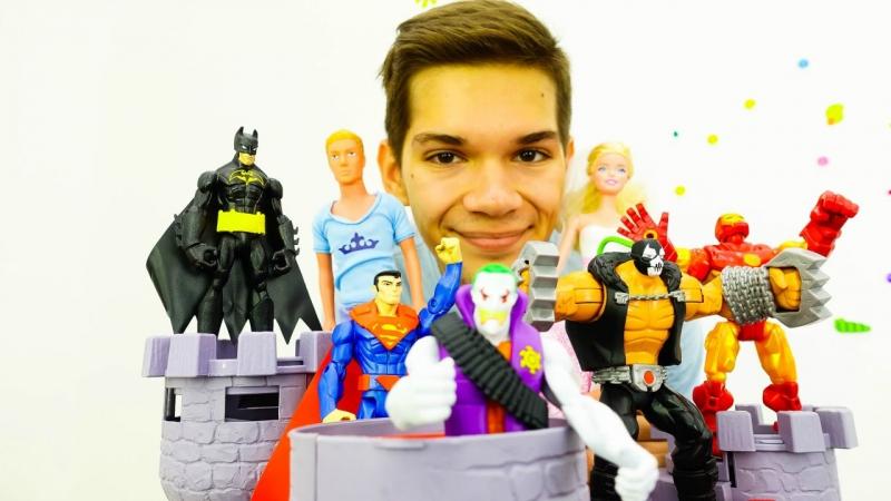 Коварное похищение Барби Джокером (Joker)! Видео про то, как СУПЕРГЕРОИ спасали Барби и ее свадьбу!