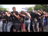 Луганск.19 июля,2016.Жители ЛНР провели тренировку по противодействию вооруженной миссии.