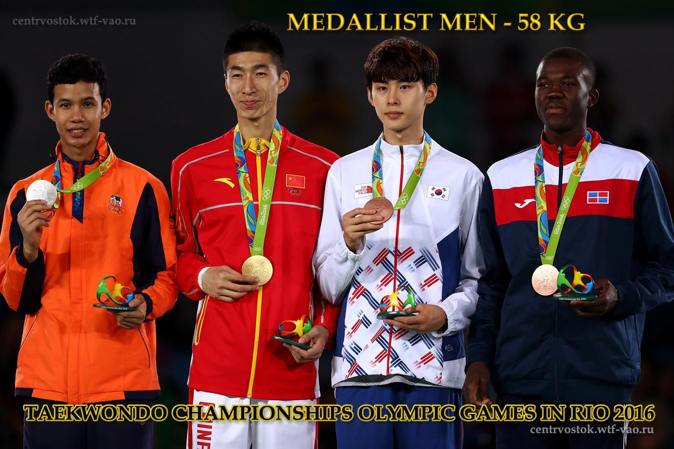 Rio_Medallist_TKD_Men-58kg