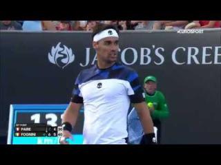 Australian Open Fognini - Paire highlights