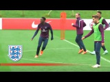 Welbeck, Rooney, Cahill, Sterling practise  Inside Training
