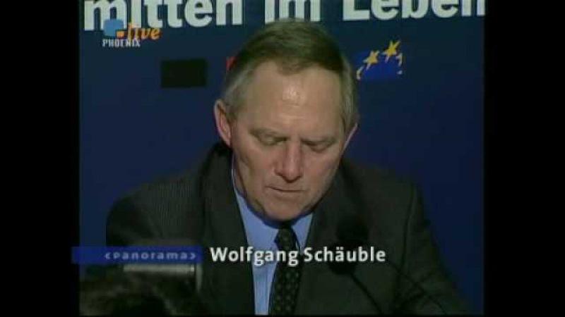 Wolfgang Schäuble und die 100 000 Mark aus dem schwarzen Koffer NDR Panorama