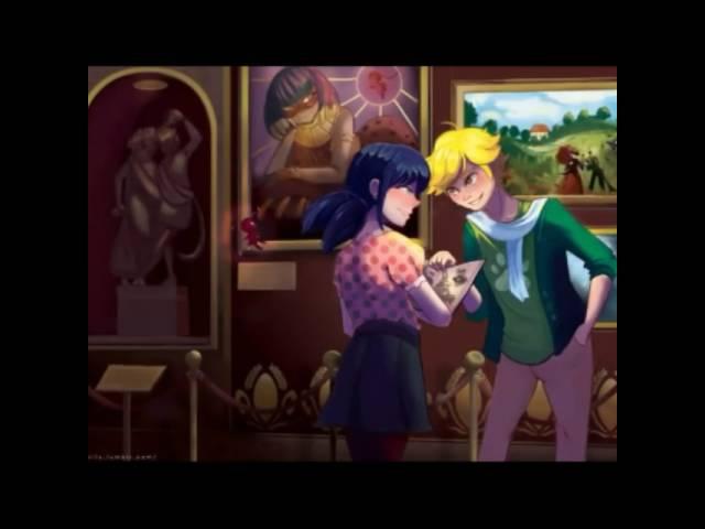 Любовь Маринет и Адриана (Леди баг и Супер кота )