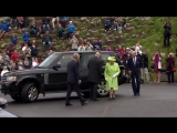 Queen and Prince Philip visit Giants Causeway