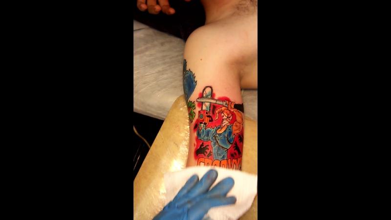 Татуировки в Стрежевом. Червяк Джим.