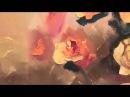 Уроки рисования для взрослых букет цветов в вазе крупным планом обучение живопи...