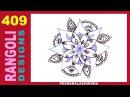 Easy Freehand Rangoli Muggulu Kolam Design 409 for NewYear Sankranthi Ugadi