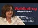 Wahlbetrug in der BRD Wahlhelferin Petra Kaiser berichtet 20 11 2016