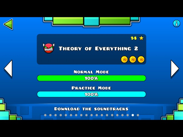 Geometry Dash - Theory of Everything 2 (Lv18) All coins [1080p,60fps]